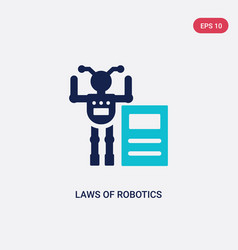 Two color laws robotics icon from artificial vector