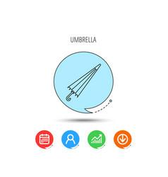 Umbrella icon water protection sign vector