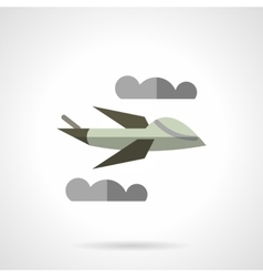 Unmanned airplane flat icon vector