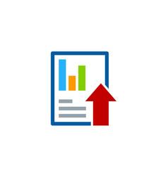 upload report logo icon design vector image