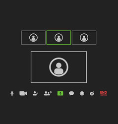 Video call conference window in your device vector