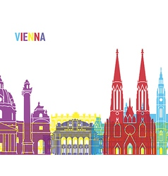 Vienna skyline pop vector image