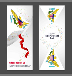 Virgin islands us happy independence day confetti vector