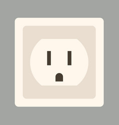 Wall socket flat vector