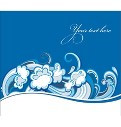 Water wave vector image