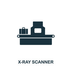 x-ray scanner icon premium style design from vector image