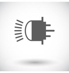 Xenon car lamp flat icon vector