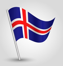 flag iceland vector image