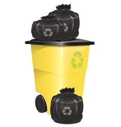 Garbage Container With Bag vector image vector image