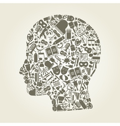 Head art vector image vector image