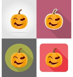 pumpkins for halloween flat icons 07 vector image vector image