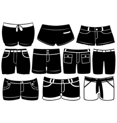 Set of different shorts vector image vector image