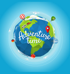 travel adventure time concept vector image