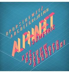 alphabet isometric Converted vector image