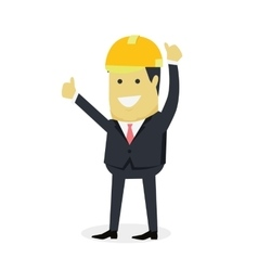 Businesman Show Gesture Thumb Up vector image vector image