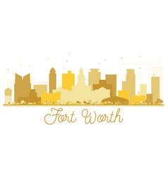 fort worth texas usa city skyline golden vector image