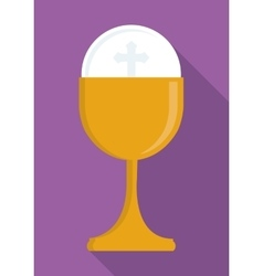 gold cup religion icon graphic vector image