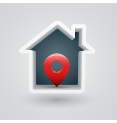 House pin vector image vector image