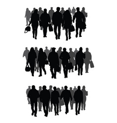 Silhouettes of people vector image vector image