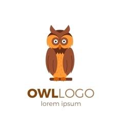 Flat owl logo vector image