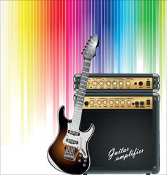 music colorful background vector image vector image