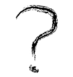 Question Mark Brushed vector image