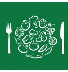vegetables for dinner vector image vector image
