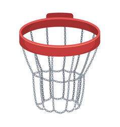 basketball hoopbasketball single icon in cartoon vector image