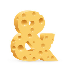 cheese sign on white background for design vector image vector image