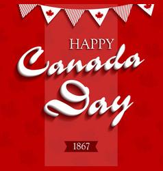 happy canada day4 vector image vector image