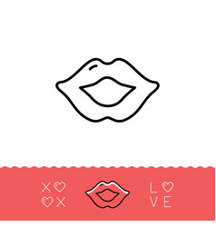lips icon xoxo - hugs and kisses valentines vector image vector image