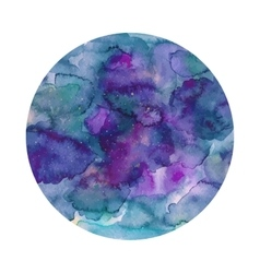 Round watercolor texture in vector image vector image