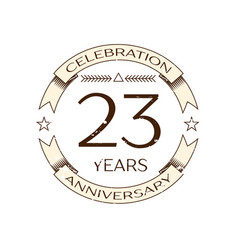 twenty three years anniversary celebration logo vector image vector image