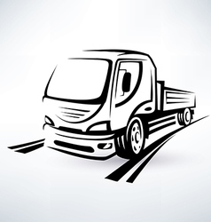 van bulk cargo transport outlined sketch vector image