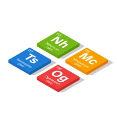 2016 New Elements in the Periodic Table - Nihonium vector