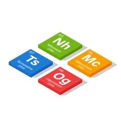 2016 new elements in the periodic table - nihonium vector