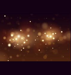 abstract defocused circular golden bokeh lights vector image