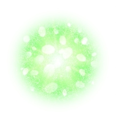 Abstract explosion with green dust elements vector