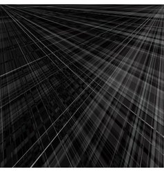 Abstract monochrome background of radial rays vector image