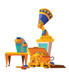 ancient egypt cartoon set vector image