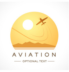 Aviation logo and text for designs vector