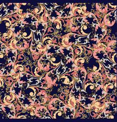 baroque floral vintage seamless pattern vector image