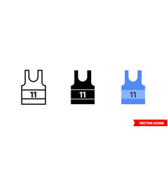 Basketball jersey icon 3 types isolated vector