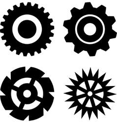 Black gears vector image