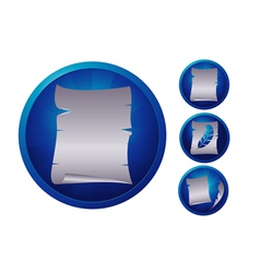 blue paper vector image