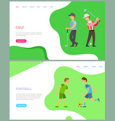 boy training with golf-club and ball sport vector image