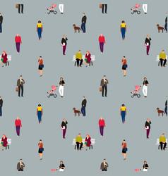 cartoon people pattern vector image