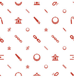 Chain icons pattern seamless white background vector