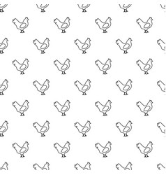 chicken pattern seamless vector image