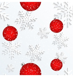 Christmas Snowflake White Background vector image vector image